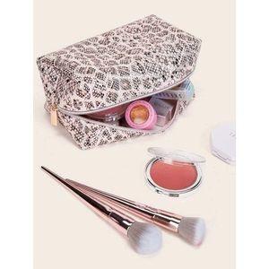 Pink Snakeskin Makeup Bag 💖